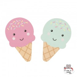 Happy Ice Cream Nail File Pink or Turquoise - S&B-MANI033 - Sass & Belle - In the Bathroom - Le Nuage de Charlotte