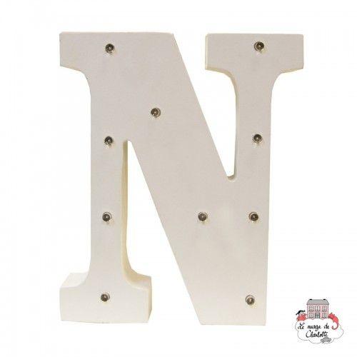 Décoration LED - Alphabet - N - S&B-LUMI020 - Sass & Belle - Dans la chambre - Le Nuage de Charlotte