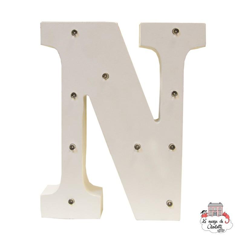 Alphabet LED Light Decoration Letter N - S&B-LUMI020 - Sass & Belle - In the Bedroom - Le Nuage de Charlotte
