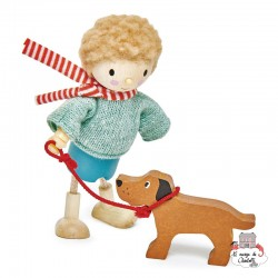 Mr Goodwood and his Dog - TLT-8143 - Tender Leaf Toys - Doll's Houses - Le Nuage de Charlotte