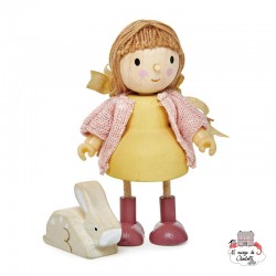 Amy and her Rabbit - TLT-8146 - Tender Leaf Toys - Doll's Houses - Le Nuage de Charlotte