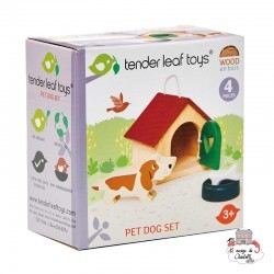 Pet Dog Set - TLT-8162 - Tender Leaf Toys - Doll's Houses - Le Nuage de Charlotte