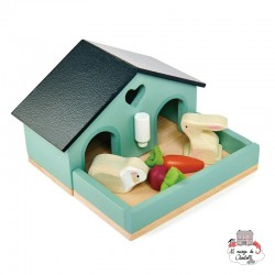 Pet Rabbit Set - TLT-8163 - Tender Leaf Toys - Doll's Houses - Le Nuage de Charlotte