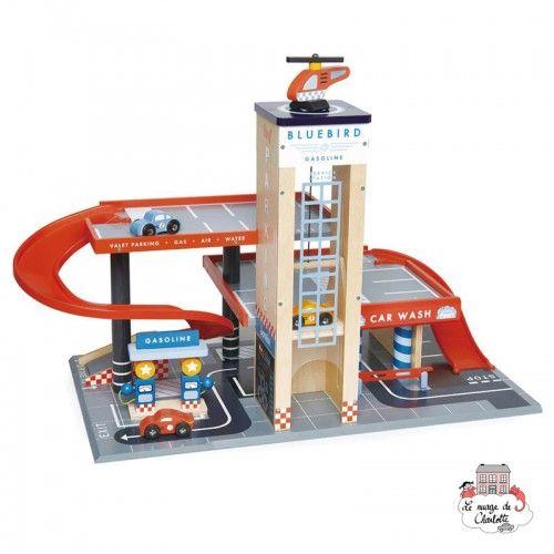 Blue Bird Service Station - TLT-8581 - Tender Leaf Toys - Garages and accessories - Le Nuage de Charlotte
