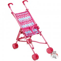 "Push chair ""Zig Zag"" - PCO-P800147 - Petitcollin - Doll's Accessories - Le Nuage de Charlotte"