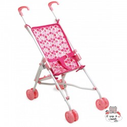 "Push Chair ""Pomme d'amour"" - PCO-P800146 - Petitcollin - Doll's Accessories - Le Nuage de Charlotte"