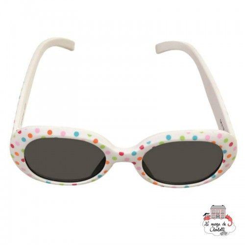 Sunglasses - White & Dots - EGT-170404 - Egmont Toys - Sunglasses - Le Nuage de Charlotte