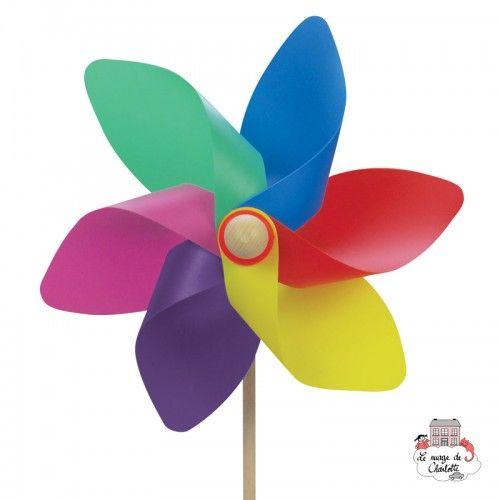 Big Flag Pastel Pinwheel 31 cm - BLU-409ECO - Basso Luigi - Pinwheel - Le Nuage de Charlotte