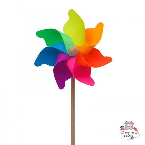 Big Arlequin Fluo Pinwheel 31 cm - BLU-411F - Basso Luigi - Pinwheel - Le Nuage de Charlotte