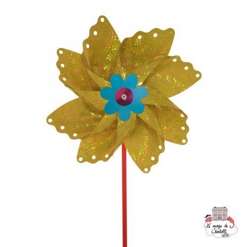 Big Holographic Butterfly Pinwheel 35 cm - BLU-402O - Basso Luigi - Pinwheel - Le Nuage de Charlotte