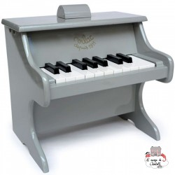 18-key gray piano with sheet music - Limited edition - VIL-50831 - Vilac - Musical Instruments - Le Nuage de Charlotte