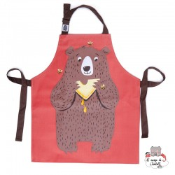 Fred The Bear Cotton Apron - TBD-8864030 - ThreadBear design - Aprons - Le Nuage de Charlotte