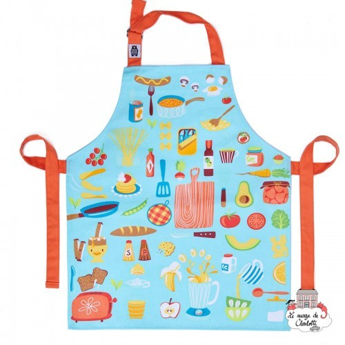 Let's Cook Cotton Apron - TBD-8864029 - ThreadBear design - Aprons - Le Nuage de Charlotte