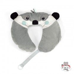 Neck Roll with Soother Chain - Elvis the Meerkat - STE-6511622 - Sterntaler - Neck Pillow - Le Nuage de Charlotte