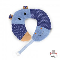 Neck Roll with Soother Chain - Norbert the Hippo - STE-6511620 - Sterntaler - Neck Pillow - Le Nuage de Charlotte