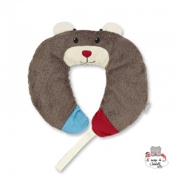 Neck Roll with Soother Chain - Bobby the Bear - STE-6511729 - Sterntaler - Neck Pillow - Le Nuage de Charlotte