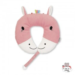 Neck Roll with Soother Chain - Peggy the Rassel - STE-6511732 - Sterntaler - Neck Pillow - Le Nuage de Charlotte
