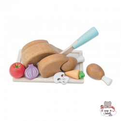 Chicken 'Sunday Roast Set' - LTV-TV314 - Le Toy Van - Kitchen, Household and Dinnerware Set - Le Nuage de Charlotte