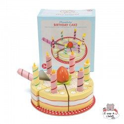 Vanilla Birthday Cake - LTV-TV273 - Le Toy Van - Kitchen, Household and Dinnerware Set - Le Nuage de Charlotte