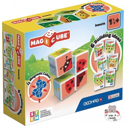 Geomag Magicube Insects - GEO-121 - Geomag - Magnetic elements - Le Nuage de Charlotte