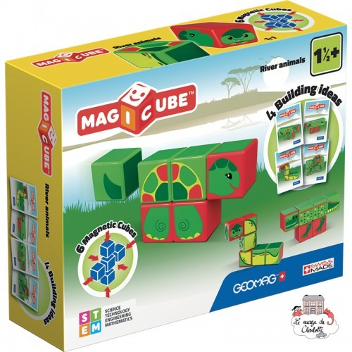Geomag Magicube River Animals - Turtle - GEO-125 - Geomag - Magnetic elements - Le Nuage de Charlotte