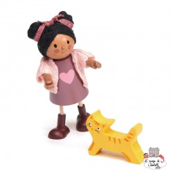 Ayana and her Cat - TLT-8148 - Tender Leaf Toys - Doll's Houses - Le Nuage de Charlotte