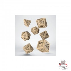 Call of Cthulhu Beige & Black Dice Set (7) - QWO-SCTH18 - Q Workshop - Dices, bags and other accessories - Le Nuage de Charlotte