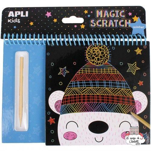 Block of scratch cards Winter - APL-16524 - APLI - Creative Kits - Le Nuage de Charlotte