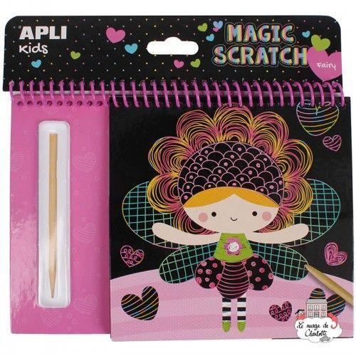 Block of scratch cards Fairies - APL-16525 - APLI - Creative Kits - Le Nuage de Charlotte