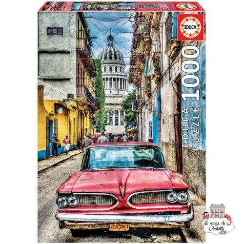Vintage Car in Old Havana - EDU-16754 - Educa Borras - Adult Puzzles - Le Nuage de Charlotte