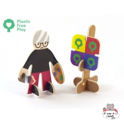 Playpress Artist & Performers Eco Friendly Playset - PLP-S0001 - Playpress Toys - Figures and accessories - Le Nuage de Charl...