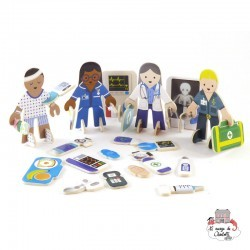 Doctor & Nurse Eco Friendly Playset - PLP-S0003 - Playpress Toys - Figures and accessories - Le Nuage de Charlotte