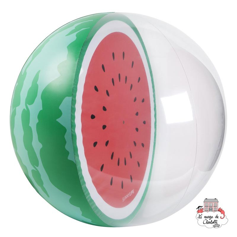 Inflatable Beach Ball - Watermelon - SUL-S0PBSNWM - SunnyLIFE - Outdoor Play - Le Nuage de Charlotte
