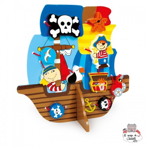 Threading Pirate Ship - SMF-5808 - Small Foot - Threading Games - Le Nuage de Charlotte