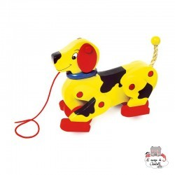 """Pull-Along """"Dachshund"""" - SMF-1083 - Small Foot - Pull Along Toys - Le Nuage de Charlotte"""