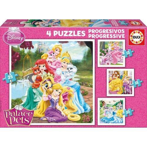 4 puzzles progressive - Palace Pets (Disney) - EDU-16172 - Educa Borras - For littles - Le Nuage de Charlotte