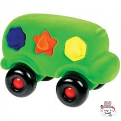 Rubbabu Bus Educatif à Formes vert - RUB-32273 - Rubbabu toys - Jouets d'activité - Le Nuage de Charlotte