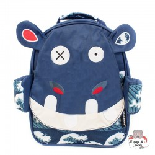 Hippipos the hippo backpack - DEG-31017 - Les Déglingos - Backpacks - Le Nuage de Charlotte