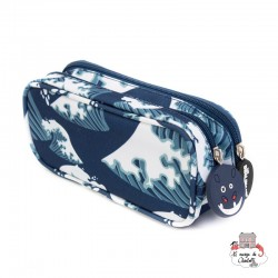 Hippipos the hippo double pencil case - DEG-31117D - Les Déglingos - Pencil Cases - Le Nuage de Charlotte