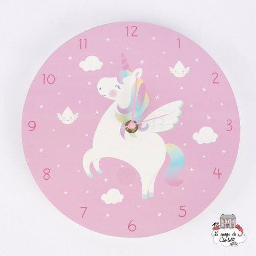 Rainbow Unicorn Wall Clock - S&B-JANE231 - Sass & Belle - Clocks & Alarm Clocks - Le Nuage de Charlotte