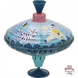 Large JUNGLE Spinning Top Michelle Carlslund - VIL-8519 - Vilac - Spinnings Tops - Le Nuage de Charlotte