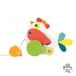 Pull-Along Chicken and Chick - EGT-591015 - Egmont Toys - Pull Along Toys - Le Nuage de Charlotte