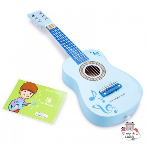 Guitar - Blue with music notes - NCT-10349 - New Classic Toys - Musical Instruments - Le Nuage de Charlotte