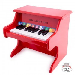Piano red -18 keys - NCT-10155 - New Classic Toys - Musical Instruments - Le Nuage de Charlotte