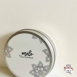 Recycled aluminum box with screw lid - MAY-MA-2001 - Mélo Ayurveda - Zero waste cosmetics - Le Nuage de Charlotte