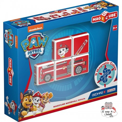 Geomag MagiCube Paw Patrol Marshall Fire Truck - GEO-080 - Geomag - Magnetic elements - Le Nuage de Charlotte