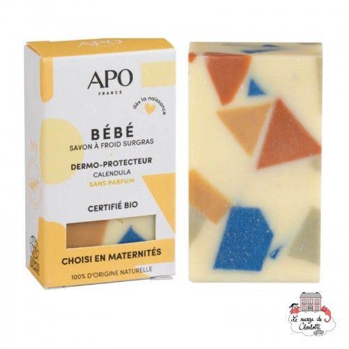 Baby Cold Saponified Solid Soap - APO-SSBEBEET100 - APO - Zero waste cosmetics - Le Nuage de Charlotte