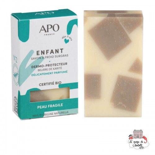 Children's Solid Soap - Fragile skin - APO-SSENFAET100 - APO - Zero waste cosmetics - Le Nuage de Charlotte