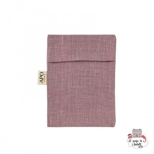 Coated linen soap bag - APO-ACCPOCHLINFIG - APO - Zero waste cosmetics - Le Nuage de Charlotte