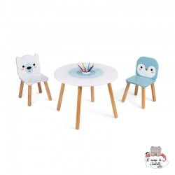 Table and 2 Chairs - Polar - JAN-J09650 - Janod - Children's furniture - Le Nuage de Charlotte